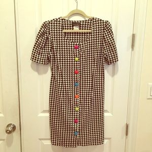 Vintage button up fitted dress